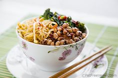 Korean-Inspired Blackeyed Peas and Kale Bowl