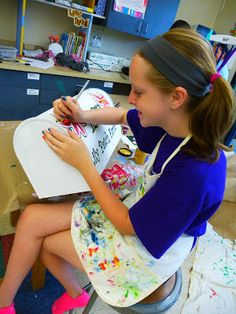 idea for the future-- The Calvert Canvas: Adventures in Middle School Art!: Middle School Art Camp