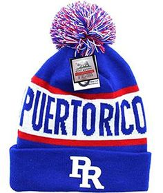 e36726ebc02 Puerto Rico Beanie Pom Pom Ski Winter Cap Hat Cuff Team Rican Flag Boricua  Pride One Size Fits All -- You can find more details by visiting the image  link.