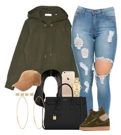 """I'm back??? "" by livelifefreelyy ❤ liked on Polyvore featuring Yves Saint Laurent, NIKE, rag & bone, Lana, Movado and Maison Margiela"