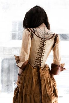 corset with attached sleeves