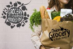 Check out ❤only today 5$❤ Grocery Round Font by Code Shop on Creative Market