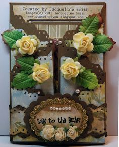 I'm back with another card for Loves Rubberstamps card challenge which is inspired by this photo. I used Soft Suede for my base which is a . 3d Cards, Paper Cards, Pinterest Photos, Diy Supplies, Homemade Cards, Birthday Cards, Challenges, Create, Team Member
