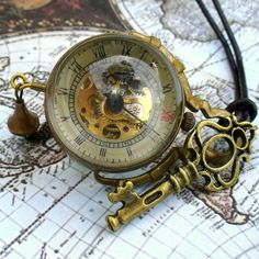 Steampunk Orb Necklace $35