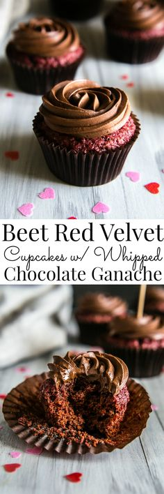 Vegan cupcakes made with beets and no synthetic dye to bring out the most beautiful magenta color on these delightful cupcakes! | Vanilla And Bean