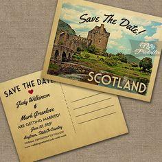 Scotland Save The Date Eilean Donan Castle PRINTED