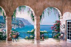 Mediterranean Arch via MuralsYourWay.com