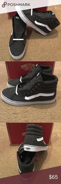 8a97fb73ee Tweed SK8Hi Vans New in box. Black true white Vans Shoes Sneakers White Vans