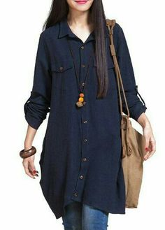iRachel Womens Long Sleeve Irregular Shirt Dress Casual Loose Blouse Tops * Details can be found by clicking on the image. Casual Wear, Casual Dresses, Casual Outfits, Hijab Fashion, Fashion Outfits, Mode Plus, Kurta Designs, Indian Designer Wear, Mode Inspiration