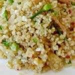 Bacalhau com Quinoa  A receita de Bacalhau com Quinoa é muito apetitosa, e riquíssima em proteínas...  Receita completa em http://www.receitasja.com/bacalhau-com-quinoa/