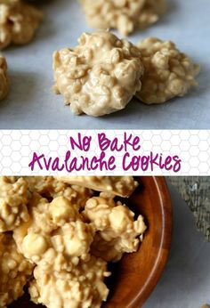 These No Bake Avalanche Cookies are SO good…they're based on one of my most popular recipes, Avalanche Bars! No Bake Cookies Recipe Peanut Butter, Easy No Bake Cookies, No Bake Treats, Cookie Brownie Bars, Cookie Desserts, Fun Desserts, Delicious Desserts, Dessert Recipes, Candy Recipes