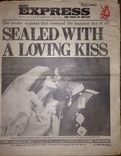 The Daily Express dated July 30, 1981 the day after the Royal Wedding of Prince Charles & Lady Diana Spencer.