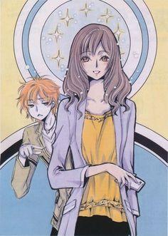 "CLAMP. Illustrations for Mizuki Tsujimura's new novel series entitled ""Haken Anime!"""