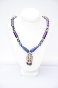 Blue Dragon Necklace. Dragon necklace. by FlashinFashinJewelry
