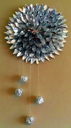 ALUMINIUM FOIL CRAFT – WALL DECORATION