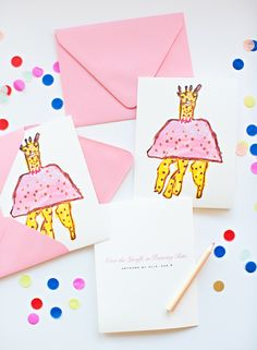 Turn Your Kid's Art Into Personalized Note Cards.