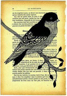 ave, corte de papel