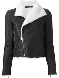 Shop Anthony Vaccarello shearling biker jacket in L'Espionne from the world's best independent boutiques at farfetch.com. Over 1500 brands from 300 boutiques in one website.