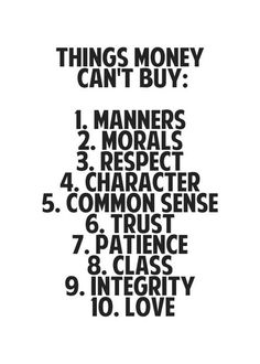 Things Money Can't Buy - The Daily Quotes