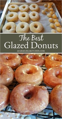 Homemade Glazed Doughnuts are a light and fluffy yeast doughnut. These delicious glazed donuts are dipped in a simple glaze and so much better than any store-bought glazed doughnuts. These taste just like Krispy Kreme donuts recipe! Homemade Glazed Donut Recipe, Donut Glaze Recipes, Easy Donut Recipe, Homemade Recipe, Homemade Doughnuts Easy, Homemade Breads, Doughnuts Recipe No Yeast, Baked Doughnuts, Donuts Donuts
