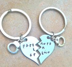 partners in crime hand cuffs broken heart for the by natashaaloha, $24.00
