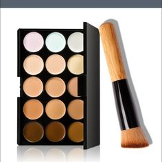 Contour cream concealer makeup It works and blends really well. I have a pallete myself and I used the brush that comes with it lightly damp to blend. Comes brand new in sealed package and comes with blending brush. Not Sephora , only using for exposure. Sephora Makeup Foundation