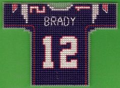 New England Patriots : Mini Football Jersey Cross Stitch PATTERN (PDF format)