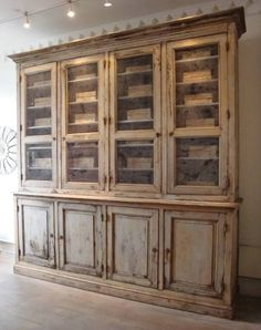 Large 19th century French Garde-Manger in Furniture from Appley Hoare - love the paint finish on this piece!!!