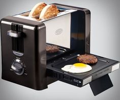 Flip-Down Breakfast Toaster
