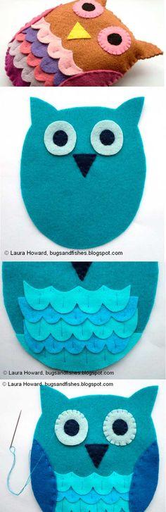 Quer aprender a fazer essa linda coruja de feltro? Entre no nosso site e siga o passo a passo.
