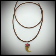 Handmade Lion Claw Silver Pendant, Turquoise Onyx Coral, SOA Biker Rock  | eBay