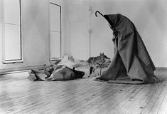 "I Like America, America Likes Me"", installation by Joseph Beuys"