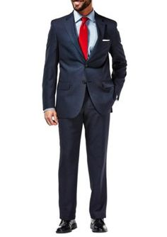 Haggar Navy Travel Performance Classic Fit Tic Weave Suit Coat