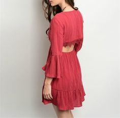 Crimson Cutout Dress