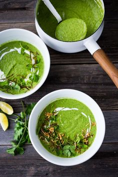 A simple delicious recipe for Thai Broccoli Soup with Coconut Milk - bursting with authentic Thai flavors. Make from scratch in 40 mins! Vegan & Gluten Free. | www.feastingathom...