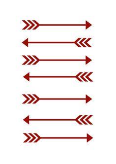 Digital Arrow Print by KandSoulPrintings on Etsy
