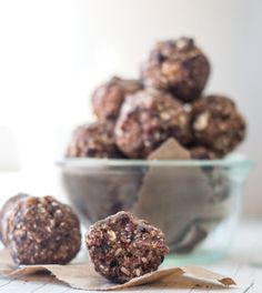 Dark Chocolate Cherry Hazelnut Energy Balls