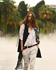 vest & the rest. #ZuzannaBijoch #offduty in Nice.