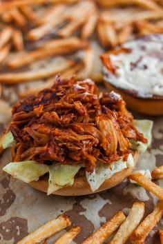 """This tasty and easy to make bbq jackfruit pulled pork recipe will quickly become your favorite sandwich and taco filling with its """"meaty"""" texture and taste."""