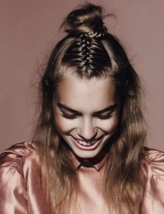 oh hunny braid-bun?you get it In 10 minutes