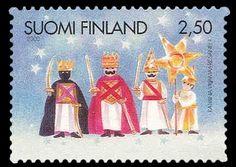 Joulupostimerkki 2000 1/2 - Tiernapojat