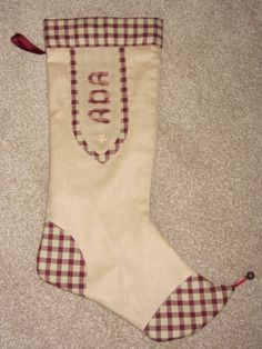 A Christmas stocking for my granddaughter Ada.