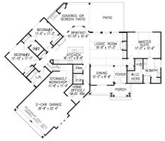 House Plan 699 00050   Mountain Plan: 1,729 Square Feet, 3 Bedrooms, 2  Bathrooms | House Plans, Master Bath And The Closet Part 59