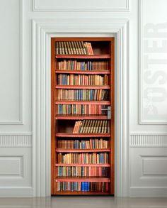 Door STICKER book cupboard cabinet mural dcole 240x92cm