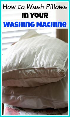 Don't throw out old pillows, you can clean them instead! Here's how to wash pillows in your washing machine (and dry them in your dryer)! Cleaning tips, cleaning hacks, homemaking, homemaker tips Deep Cleaning Tips, House Cleaning Tips, Cleaning Solutions, Spring Cleaning, Cleaning Hacks, Diy Hacks, Cleaning Schedules, Cleaning Products, Homemade Toilet Cleaner