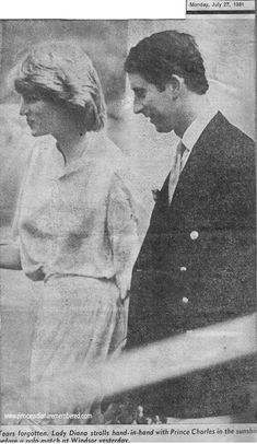 July 26, 1981: Prince Charles & his fiance, Lady Diana Spencer at the Imperial International Polo Match for the Silver Jubilee Cup with England versus Spain at the Guards Polo Club, Windsor.