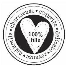 Florilèges - Tampon Bois - 100% fille