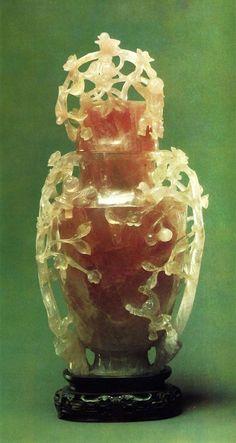China - - The Museum of Oriental Art Moscow] Quartz Rose, Pink Quartz, Mosaic Glass, Glass Art, China Art, Art Nouveau, Stone Carving, Coral, Chinoiserie