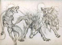 Fenrir Tattoo, Norse Tattoo, Viking Tattoos, Animal Sketches, Animal Drawings, Art Sketches, Art Drawings, Wolf Tattoos, Animal Tattoos
