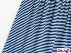 lillestoff » Ringeljersey, hellblau/dunkelblau « // derzeit leider nicht erhältlich